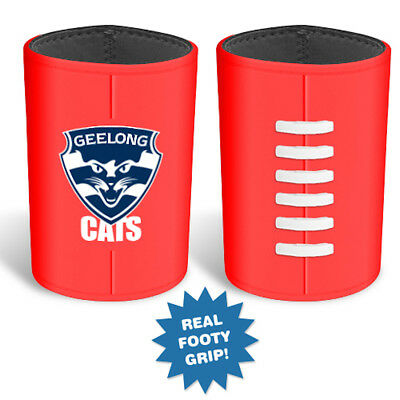 Geelong Cats AFL Moulded Silicon Ball Logo Can Cooler Stubby Holder