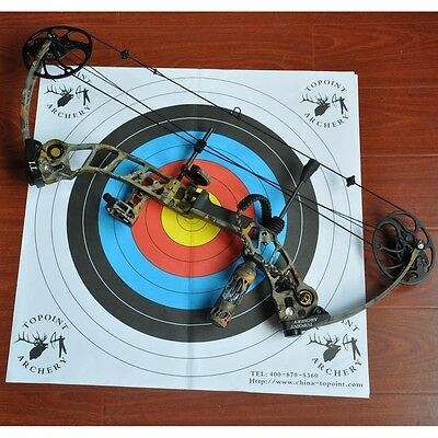10X Paper Face Target 64Cm For Compound & Recurve Bow Archery