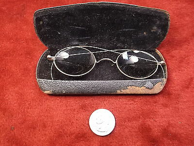 #3 of 27, RARE PAIR OF OLD VTG ANTIQUE? STEEL FRAMED PRESCRIPTION SUNGLASSES