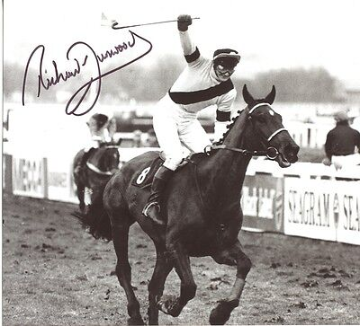 WEST TIP Grand National win photo signed jockey Richard Dunwoody UACC RD