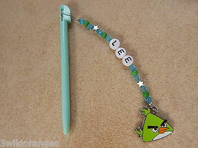 Personalised DSi DS Lite Stylus / Pen with charm Birds green