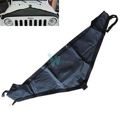T - Style Hood Cover Front End Bra Protector Kit for 2007-2015 Jeep Wrangler #WH