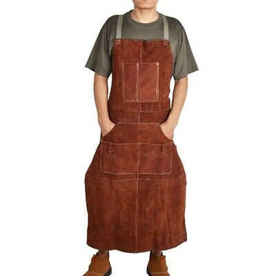 New 90/100cm Leather Welding Apron Protective Sparkproof Clothing Apparel Welder