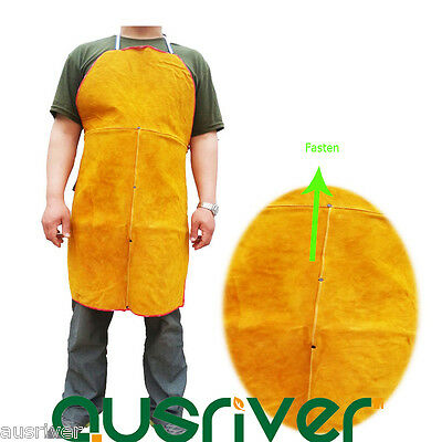 90/100cm Leather Welding Apron Protective Patchwork Clothing Apparel Suit Welder