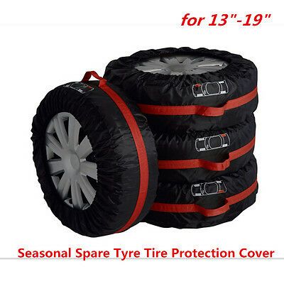 NEW Set of 4 Tire Storage Cover Tyre Wheel Carry Bag Tote Spare Wheel Protection
