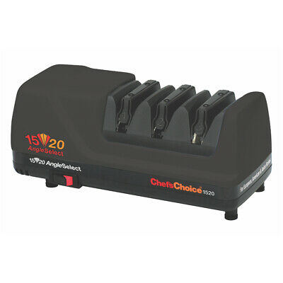 NEW Black Chef's Choice Electric Diamond Knife Sharpener Professional CC1520 Ang