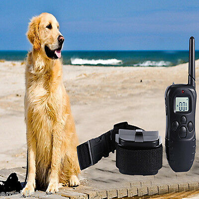 Rmote Control Rechargeable Dog Training Collar Electric Anti-bark Pet Necklace E