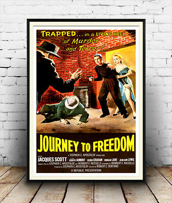 Journey to Freedom : Reproduction vintage  Movie advert , poster, Wall art.