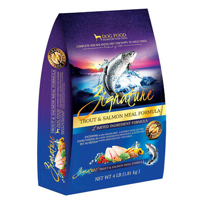 Zignature Limited Ingredient Formula (Dry) - Trout & Salmon Meal - 4 lb