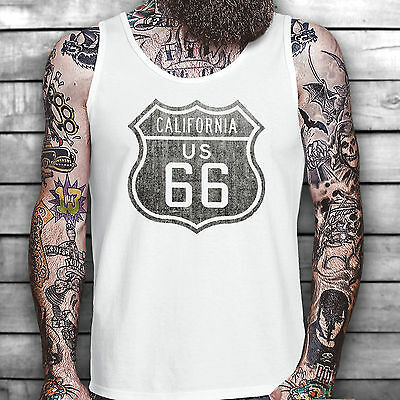 Route 66 Usa Vest Festival Music Retro Cult T-Shirt Car Vintage Chevy Holiday