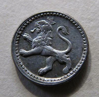 1893 Guatemala 1/4 Real Silver Coin LION Long-rayed Sun Central America UNC