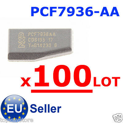 100pcs/LOT PCF7936-AA car key immobilizer carbon transponder chip blank HITAG2