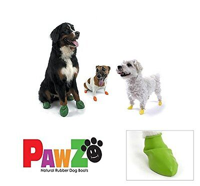 Dog Boots Pawz Waterproof Protective Rubber Natural Paw Protector Shoes Wellies