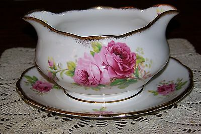 Royal Albert - American Beauty - Double Spout Gravy Boat (Superior Cond.)
