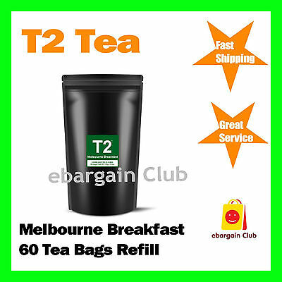 T2 Tea Melbourne Breakfast 60 Tea Bags Refill
