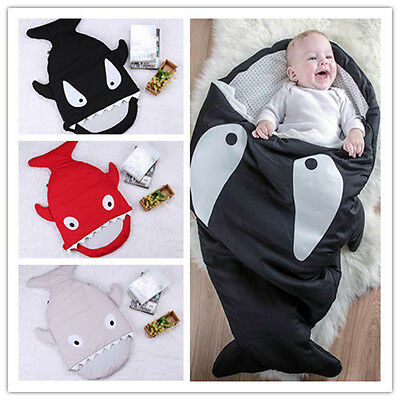 Hot sharks baby quilts Sleeping bag pram sleeping bags Bed Swaddle Blanket Wrap