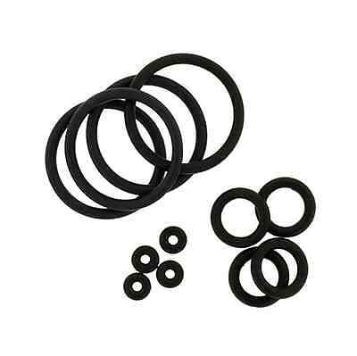 2 PAIR 4pcs Black Rubber O-Rings for Plugs Tapers 14 - 00 Gauge 14G ...