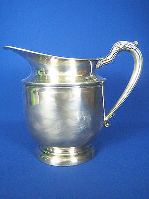 Vintage English Silver Corp. USA Silver Plated Large Water Pitcher