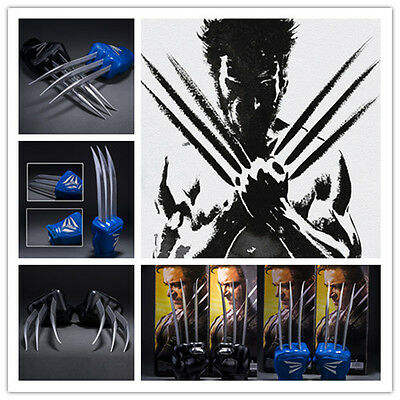 New 1:1 PVC Wolverine Paw X-Men Accessory Paw gloves Cosplay costume Blue/Black