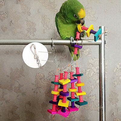 Colorful Bird Parrot Chew Toy Rope Harness Cage Toys Parakeet Cockatiel Budgie #