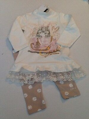 BNWT iDO Girls 2 Piece Outfit Tunic Top & Leggings N704 Autumn/Winter