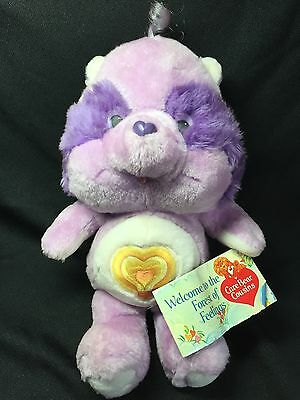 "Vintage 1984 Care Bears Cousins Kenner - Bright Heart Raccoon 13"" Bear MWT"