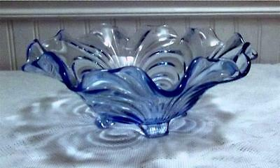 Cambridge CAPRICE Elegant Depression Glass Moonlight Blue 10 1/2 inch Bowl