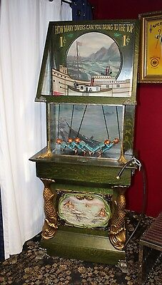 Submarine Lung Tester 1910 Mills Novelty Co. Replica 1c Coin Op. Machine
