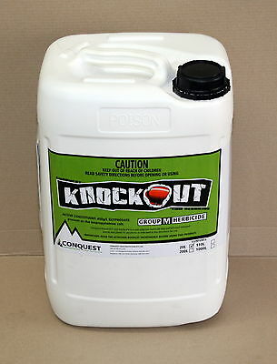 GLYPHOSATE KNOCKOUT 450 HERBICIDE CONCENTRATE 20-Litre (Equiv. Roundup CT)