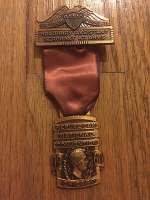 1960 Republican National Convention Sergeant At Arms Badge President Nixon