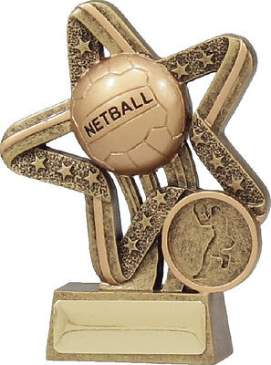 Netball Star Trophy Engraved FREE 11391A