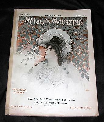 XMAS, DEC 1905 VTG MCCALL'S MAGAZINE, TONS MCCALLS PATTERNS w NUMBER & PRICES