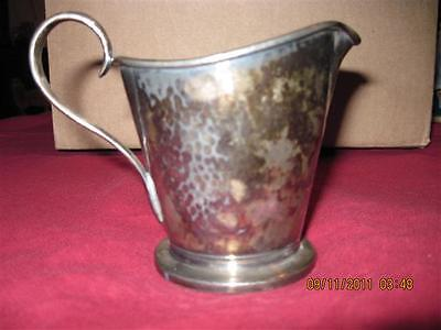 VINTAGE/ANTIQUE Silverplated Hammered Creamer...Forbes...B.P.Co.