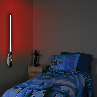 Lightsaber Room Light Darth Vader Remote Control Wall Mounted Kids Lamp Red Teen