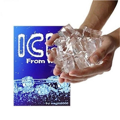 Magic Trick Ice From Water Close-up Magic props Comedy toys Ices Water Tricks