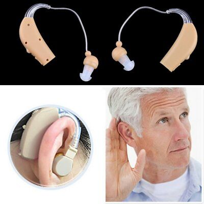 New Rechargeable Hearing Aids Personal Sound Voice Amplifier Behind The Ear BE