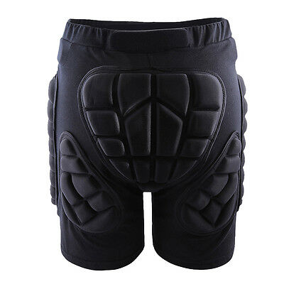 Black Sport Hip Bum Armour Skiing Motocross Motorcycle Protection Padded Shorts