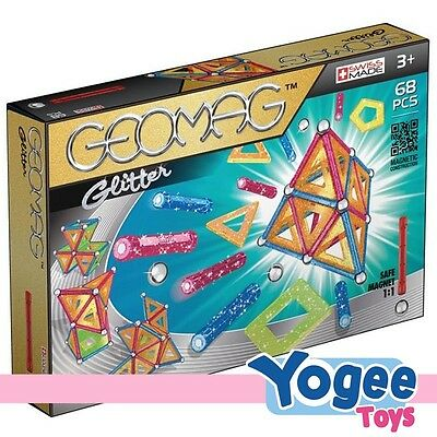 geomag classic glitter 68 piece magnetic construction set - Geomag Color 86