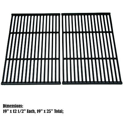 Replacement Porcelain Cast Iron Cooking Grid for Universal Gas Grill, 2 pack