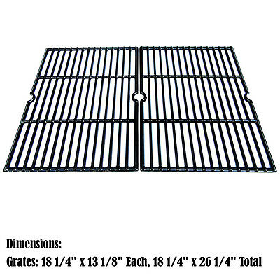 Replacement Porcelain Cast Iron Cooking Grids for Charbroil Gas Grill, 2 pack