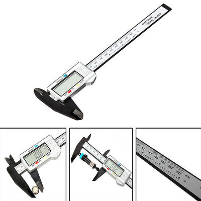 """Electronic Digital Vernier Caliper Micrometer Guage 6"""" 150mm LCD Stainless Steel"""