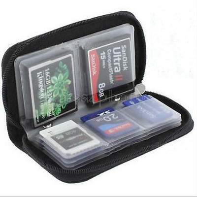 Colors Memory Card Storage Carrying Case Holder Wallet For CF/SD/SDHC/MS/DS