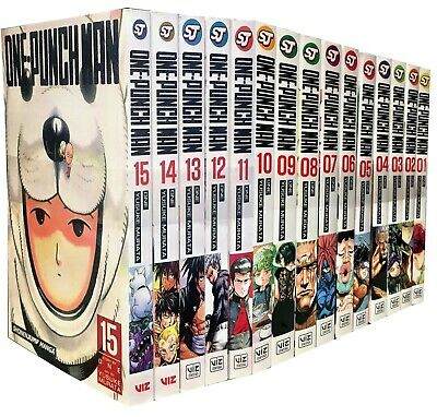 One-Punch Man Volume 1-15 Collection 15 Books Set Children Manga Books Set Pack