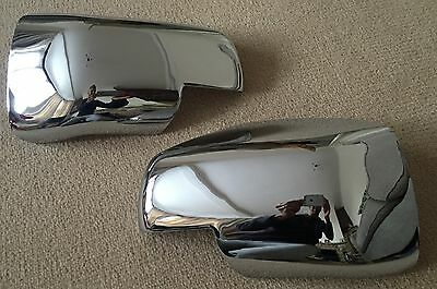 Full Chrome Door Wing Mirror Covers Range Rover Vogue L322 06-09 Discovery 3
