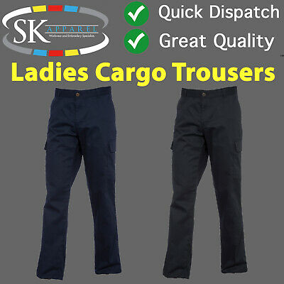 Ladies Womens Combat Cargo Work Trousers Short Regular Long Leg Uneek UC905