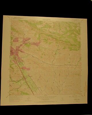 Diablo California vintage 1969 original USGS Topographical chart