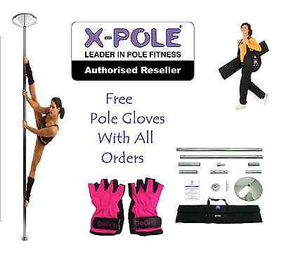 The X-POLE XPert 45mm + FREE POLE GLOVES - Best Selling Static and Spinning Pole