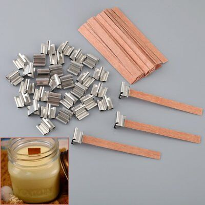 40PCS Wooden Wick Candle Core For Candle Making Supplies 8mm 12.5mm 13mm
