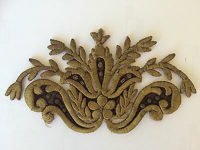 Antique Ottoman Turkish Gold Metallic Hand Embroidery For Applique No-3