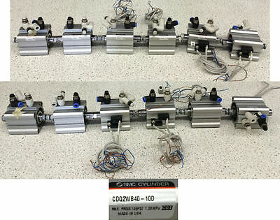 SMC CDQ2WB40-10D Compact Cylinder Lot of 6